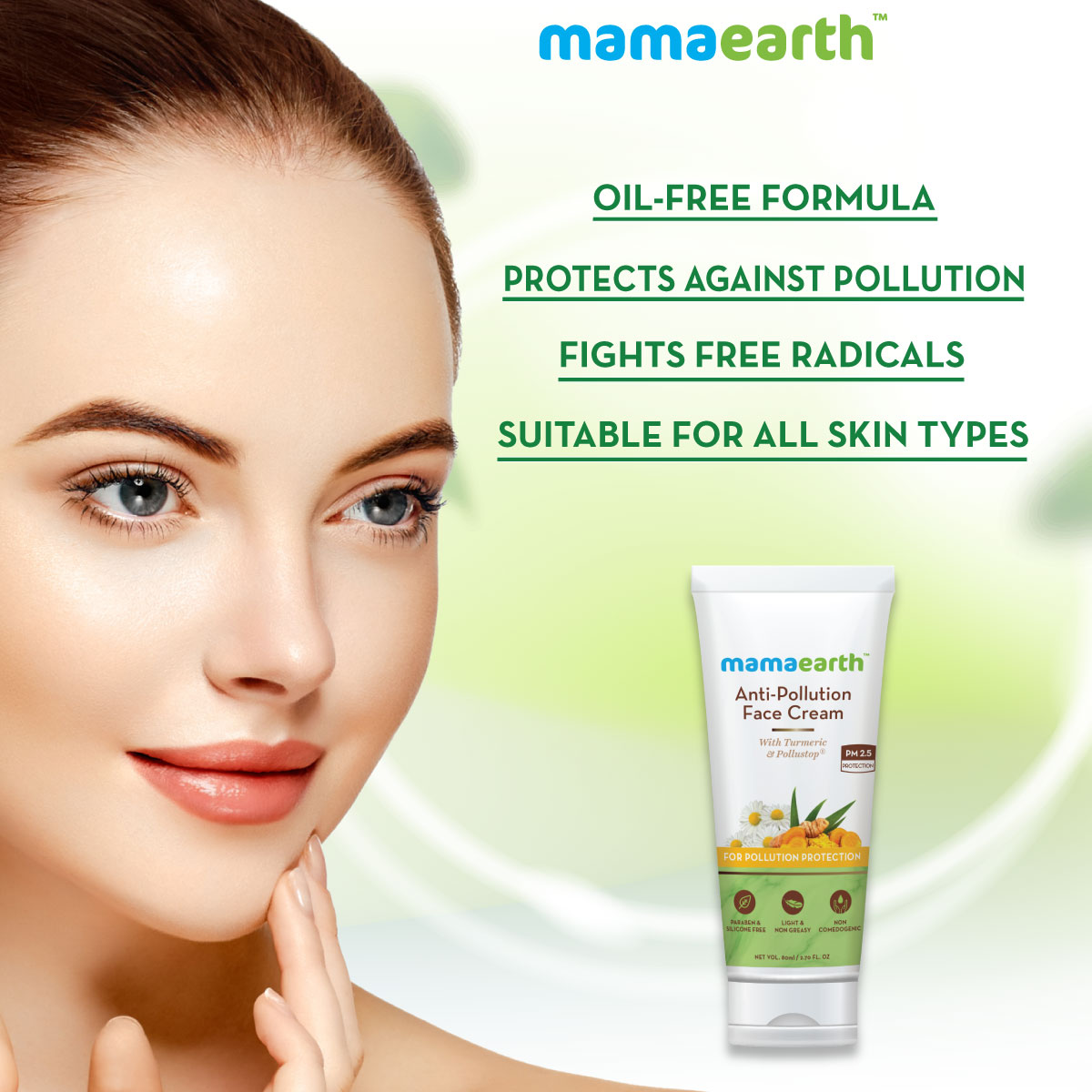 Mamaearth Anti Pollution Face Cream For Dry And Oily Skin 80ml