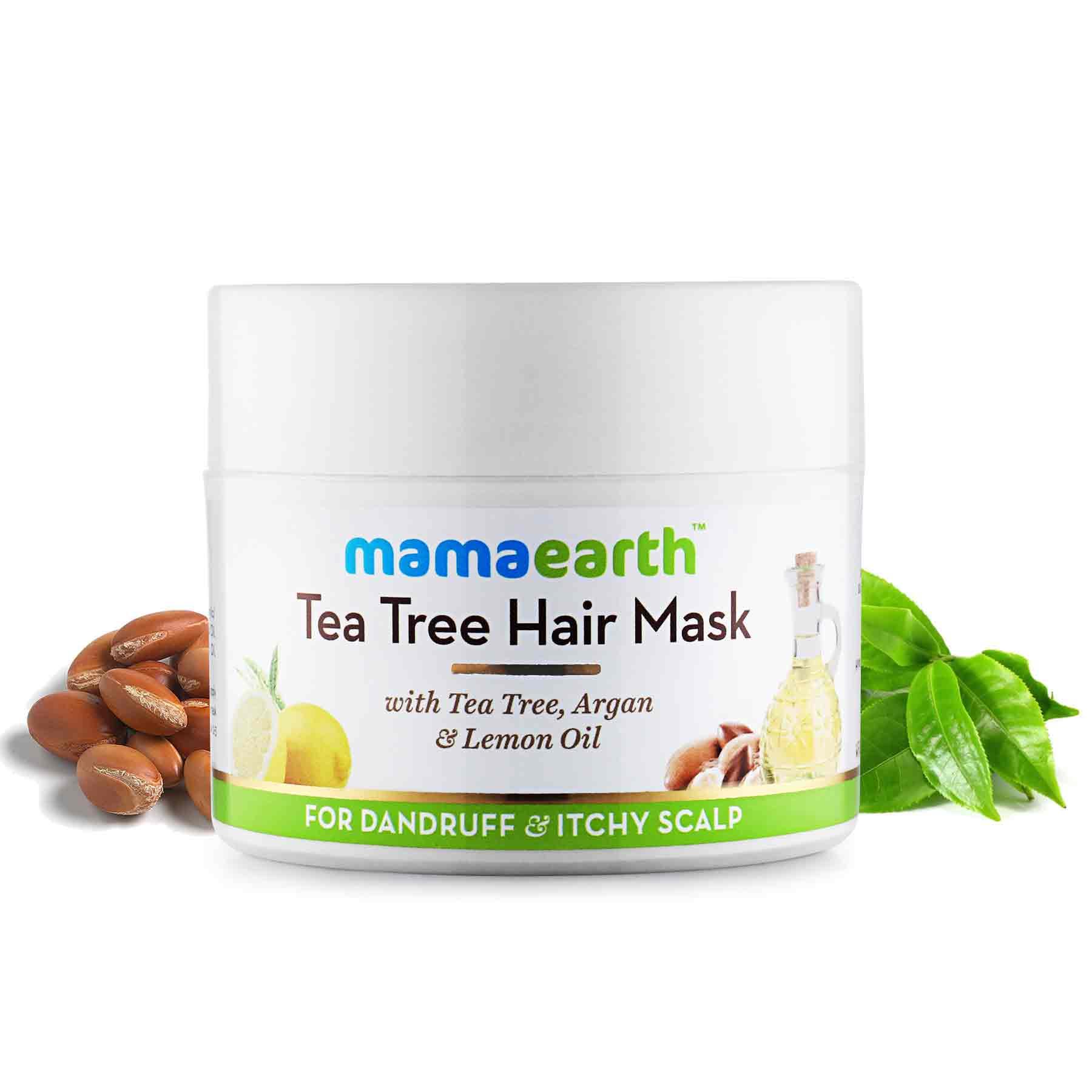 Mamaearth Tea Tree Hair Mask Hair Mask For Dandruff 200 Ml