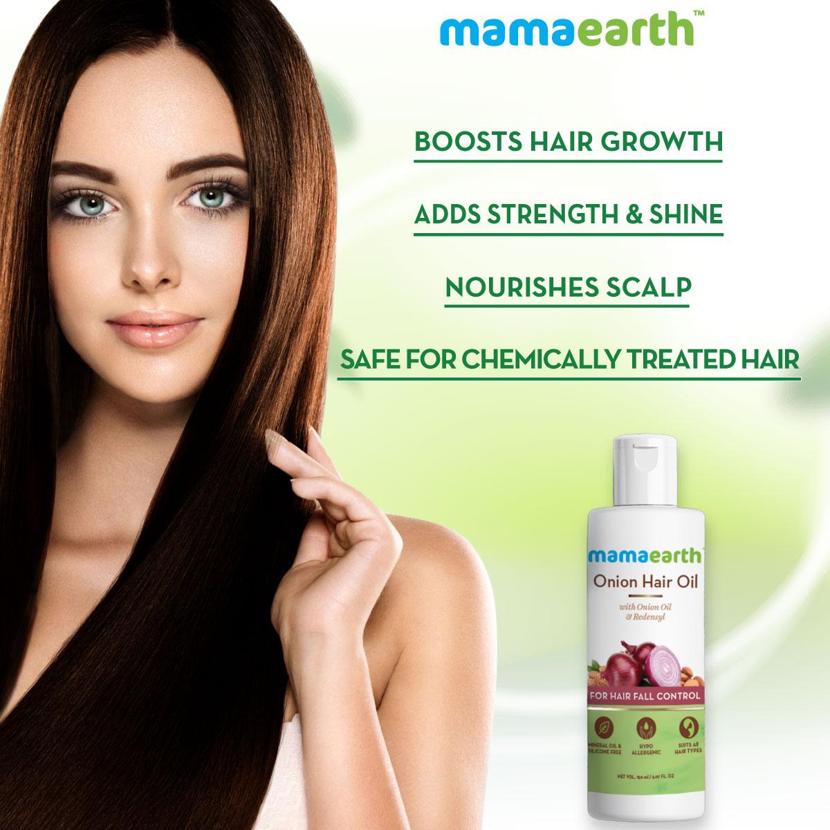 Onion Hair Oil For Hair Fall Control Mamaearth 150ml