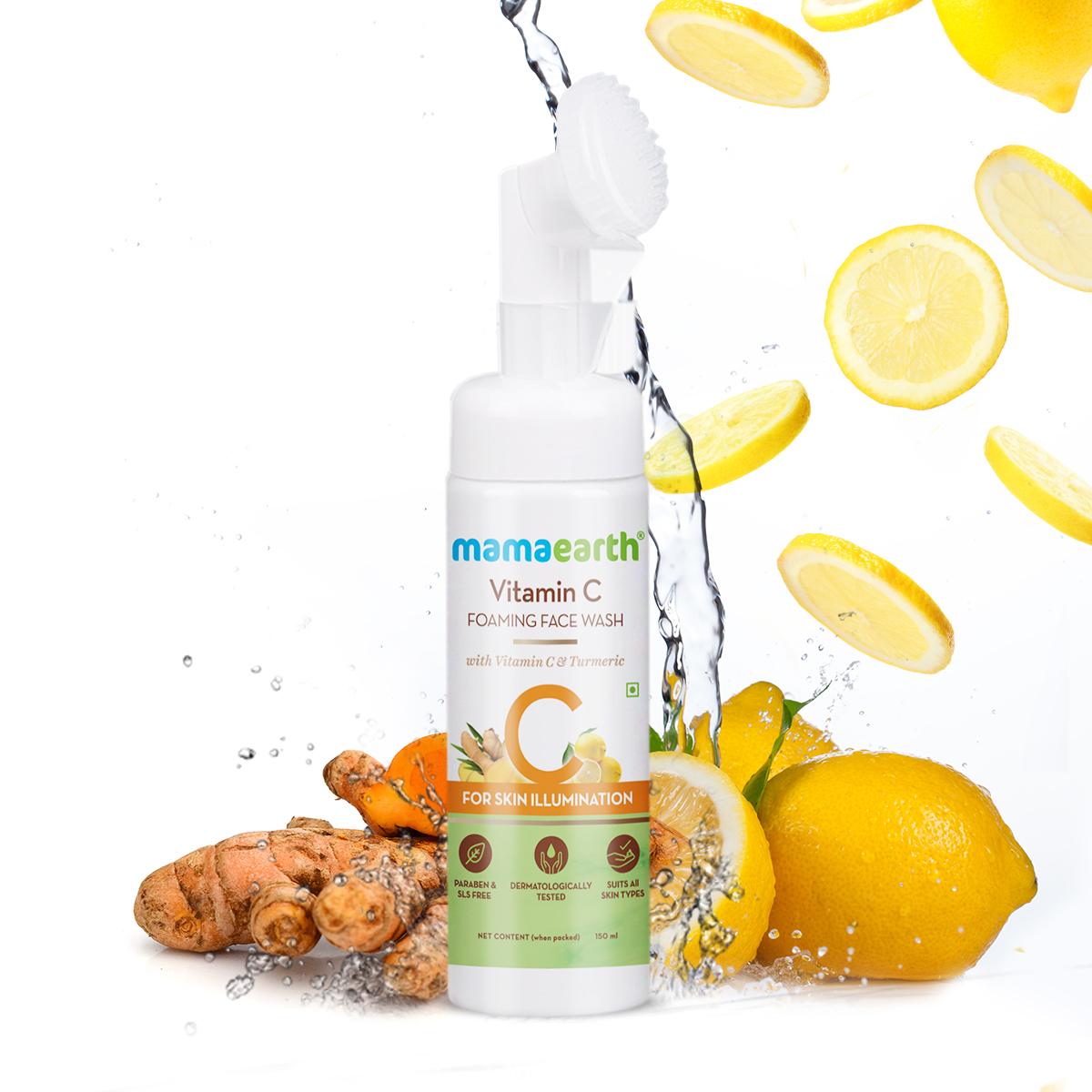 mamaearth Vitamin C Foaming Face Wash